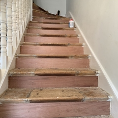 Stairs after repairs